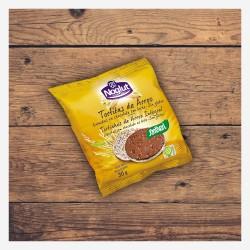 Tortitas de Arroz Bañadas en Chocolate con Leche